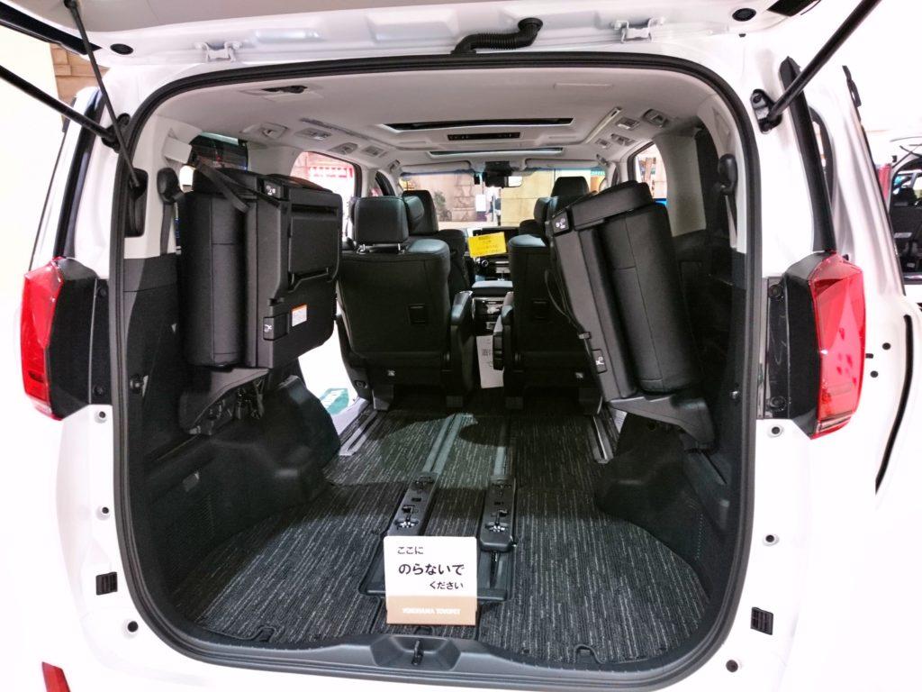 アルファード 車内スペース